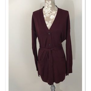 Gap Tie Waist V-Neck Cardigan with Pockets